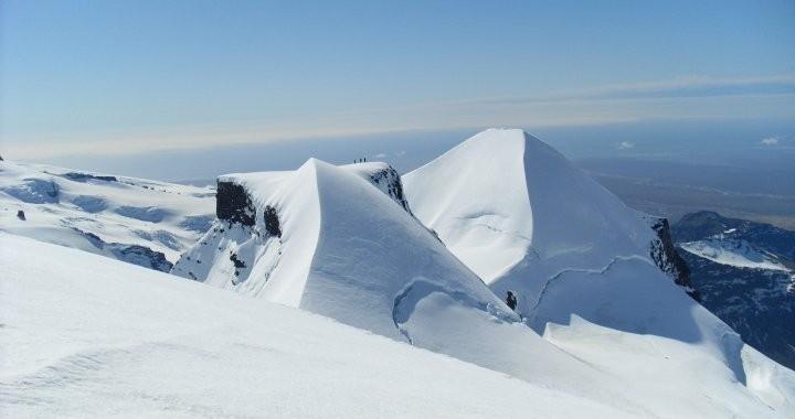 Hrutfjallstindar in Vatnajokull glacier in all their glory.