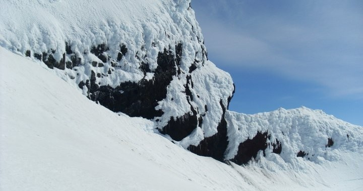 Our guide had never seen the cliffs in the Vatnajokull glacier before but thanks to global warming they were visible.