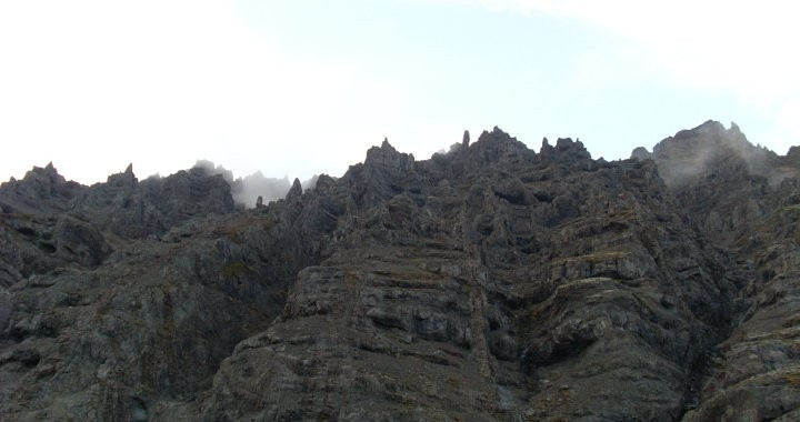 The imposing cliffs of Hafrafell