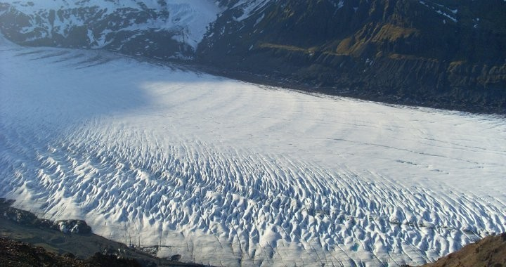 At the top of Hafrafell you get this fantastic view of the Svínafellsjokull glacier