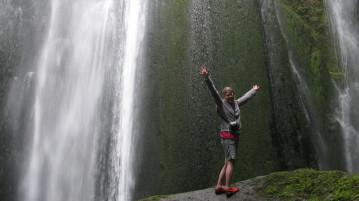 Enoying the awesomeness that is Gljúfrabúi waterfall.