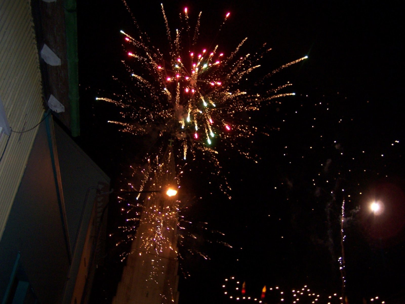 Celebrating the New Year in downtown Reykjavik