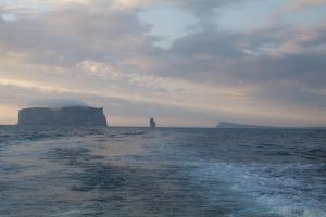 Drangey on the left, Kerling in the middle and the island of Malmey on the right