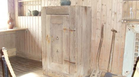 An ancient cupboard. Nobody knows how old it is but perhaps it belonged to Jon Loftsson who died in 1197