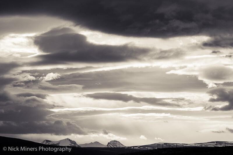 Cloudy skies over Hvalfjörður - Whale Fjord