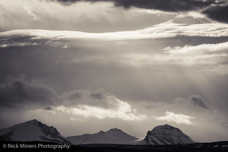 Light and shadows play their games above Hvalfjörður - Whale Fjord