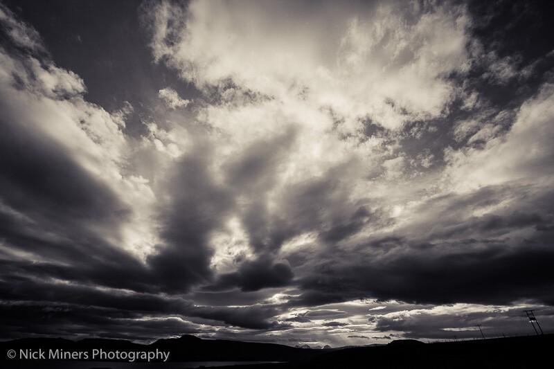 Cloud formations above Langjokull glacier.