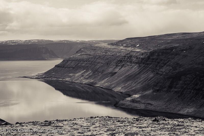 Arnarfjordur in the Westfjords, Iceland