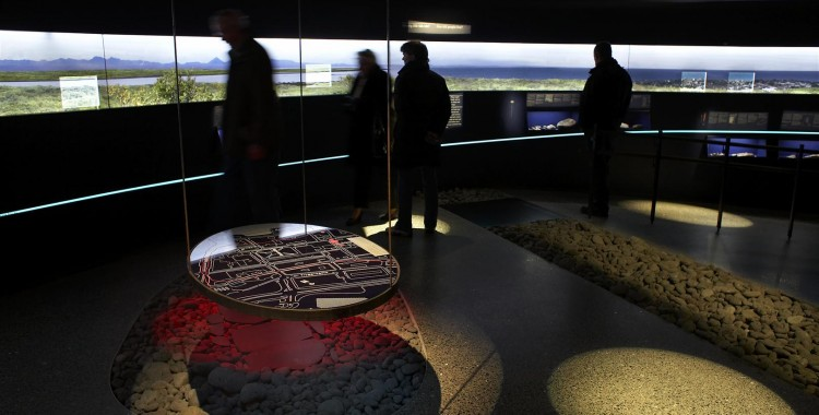 The exhibition features a map of Reykjavik - past and present - and a clear idea of what downtown Reykjavik looked like in the viking age.