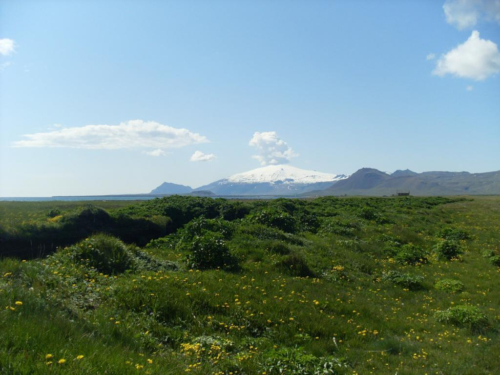 Snaefellsjokull glacier was made famous by Jule Verne and his book, the journey to the center of the Earth.