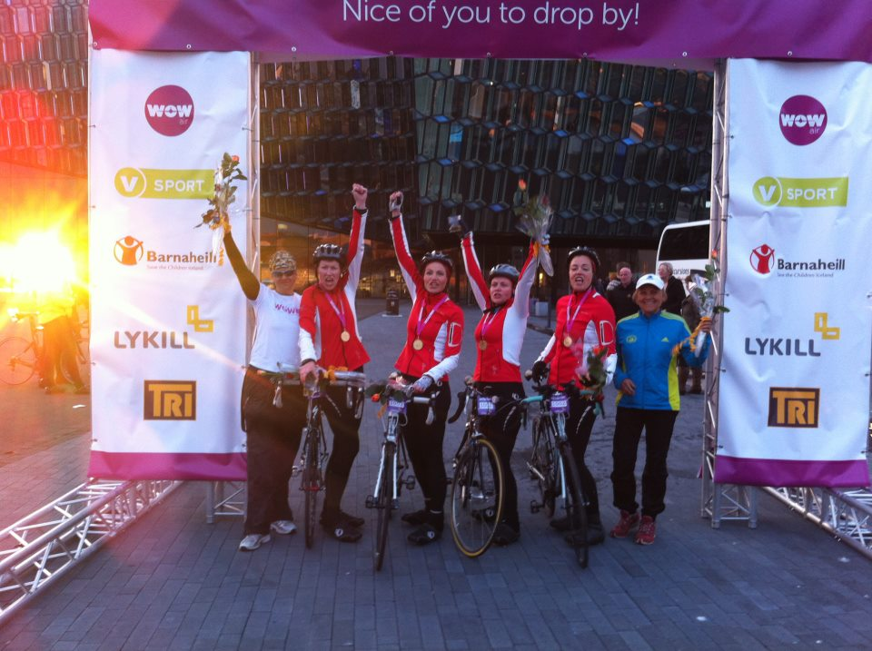 Winners at the finish line!
