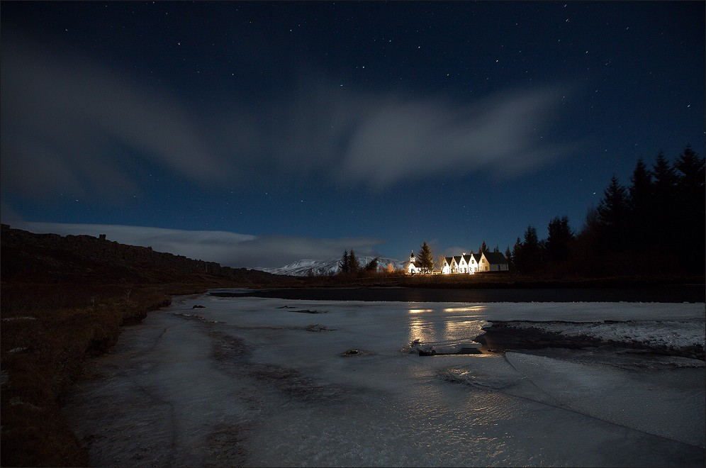 Thingvellir Church and the Prime Minister´s summerhouse.