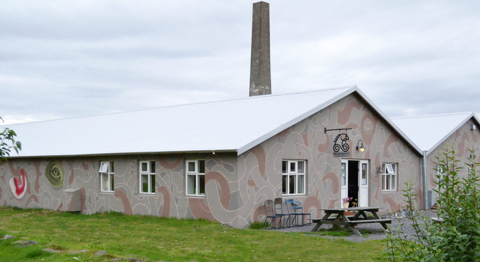 The decorated Monster museum in the village of Bíldudalur.