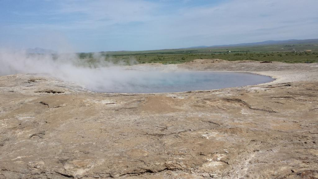 Big old Geysir lies dormant.