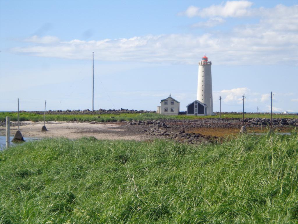 The lighthouse at Grótta.