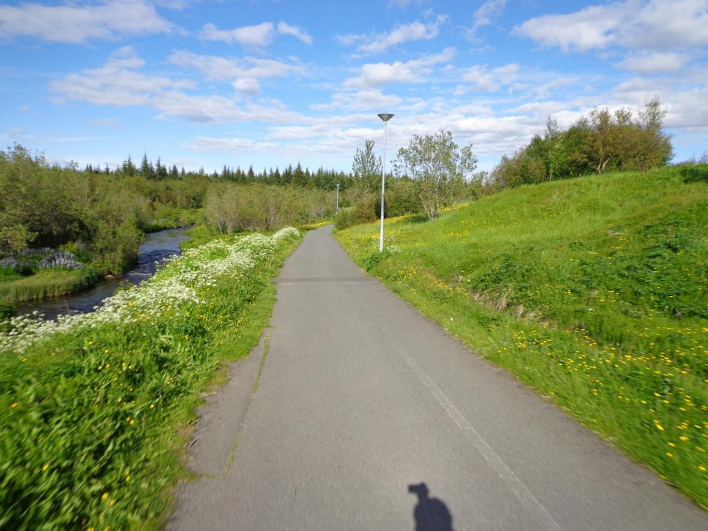 On a sunny day Elliðarárdalur valley is perfect for walking, cycling or jogging.