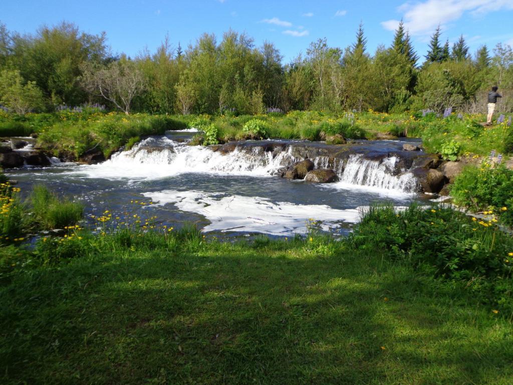Nice waterfall at Elliðaárdalur valley.