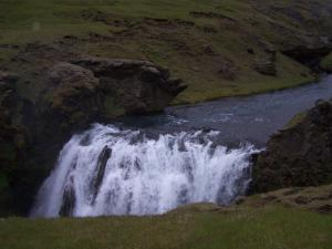 At the start of the Fimmvörðuháls hike you follow the Skógará river