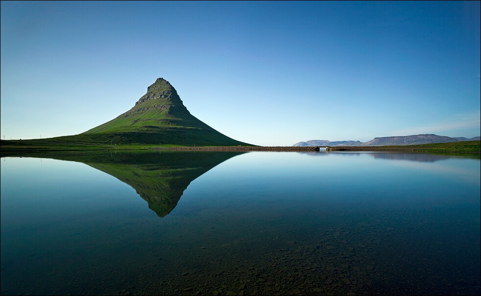 Kirkjufell and still water