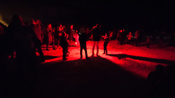 Icelandic bonfire