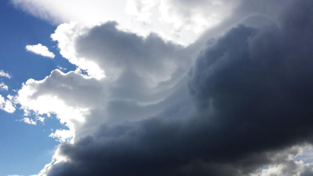 Clouds put on a show for us.