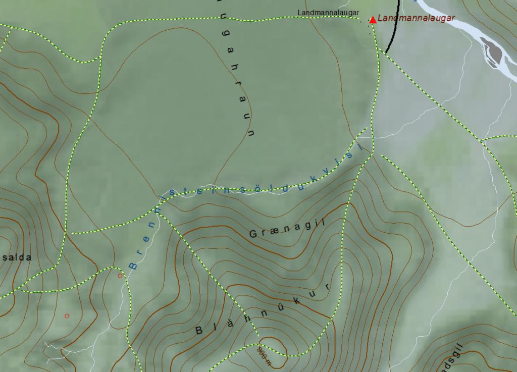 Map of Landmannalaugar