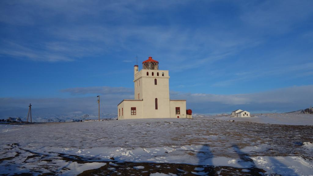The lighthouse at Dyrhólaey.