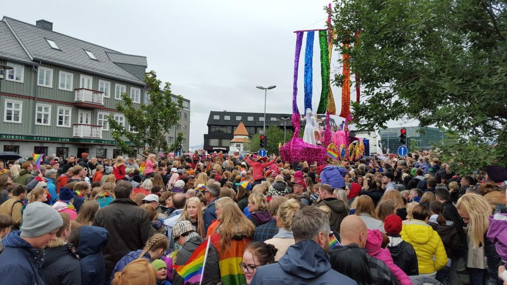 Around 30 - 40 thousand people attended Reykjavik Gay Pride. That is some 10% of the total population.