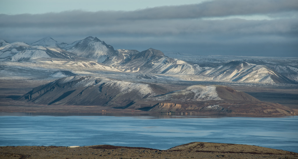 Reyðarbarmur mountain close to Lake Thingvallavatn in the south west of Iceland.