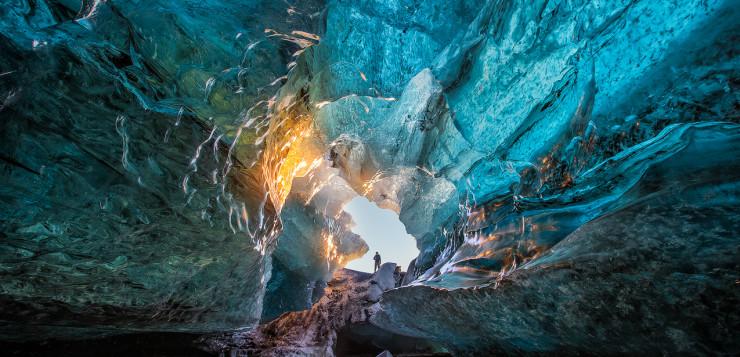 Vast ice cave.