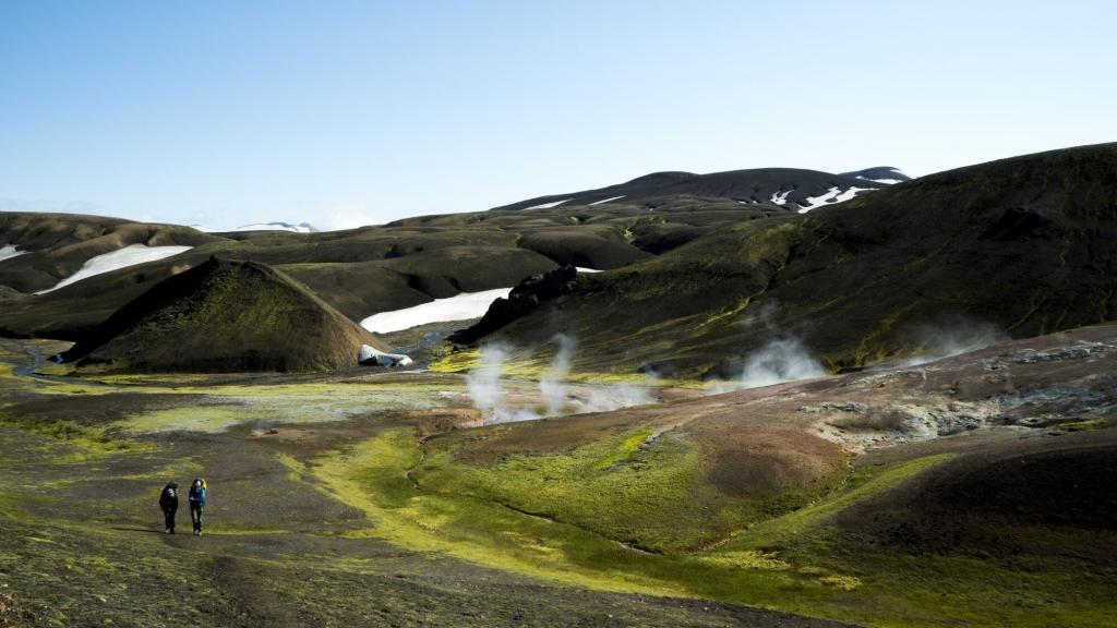 The Icelandic highlands. Complete with geysers.