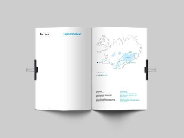 Mattia´s route through the Icelandic highlands.