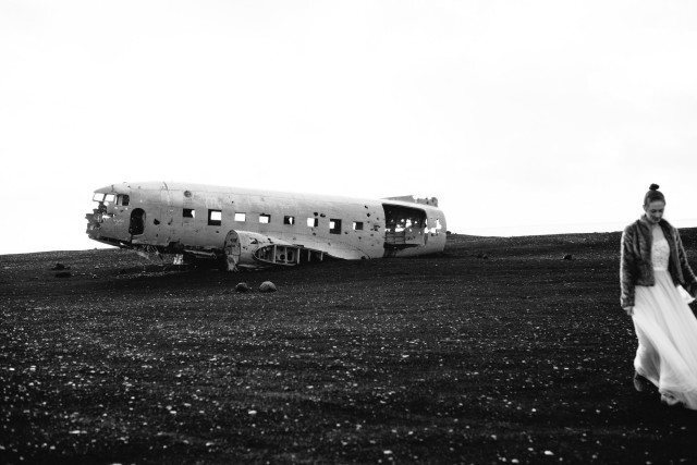 After crash landing that DC-3 at Sólheimasandur she decided to get married.