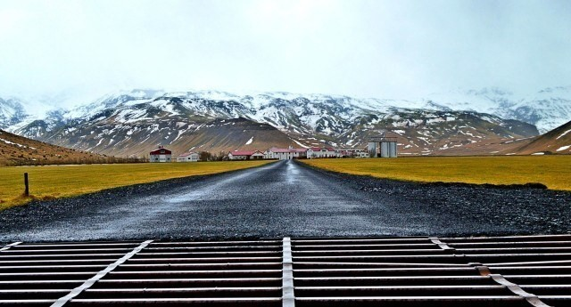 Þorvaldseyri farm near Eyjafjallajökull volcano in the South of Iceland. It was covered in ash during the 2010 eruption.