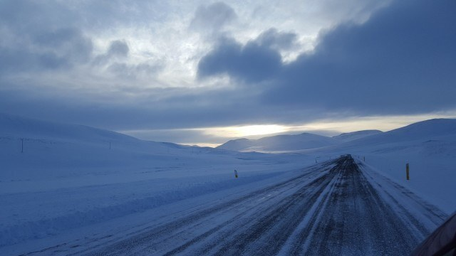 Winter driving in North of Iceland is no joke.