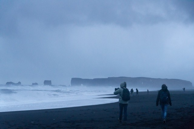 Reynisfjara black beach.