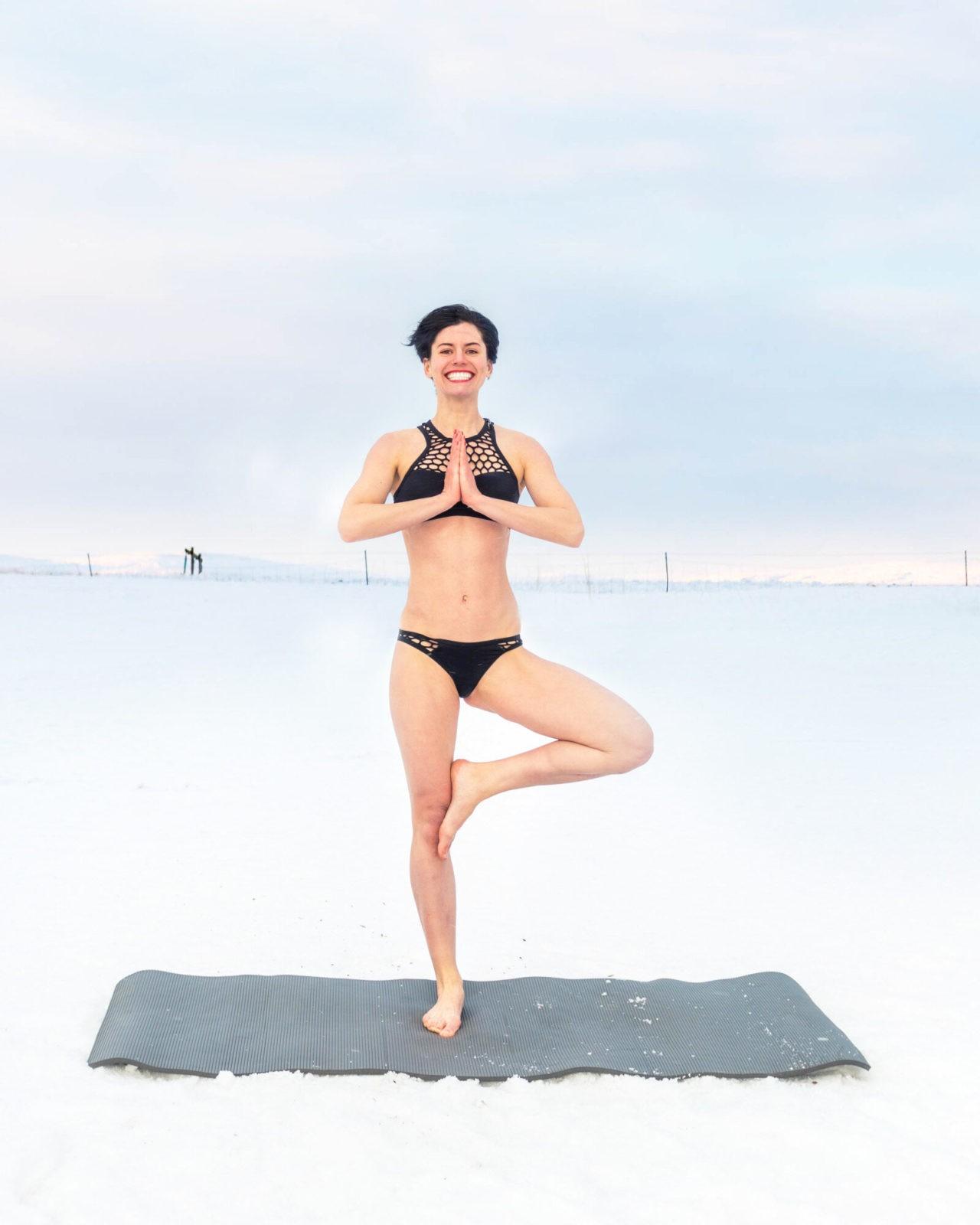 Do yoga to keep warm.