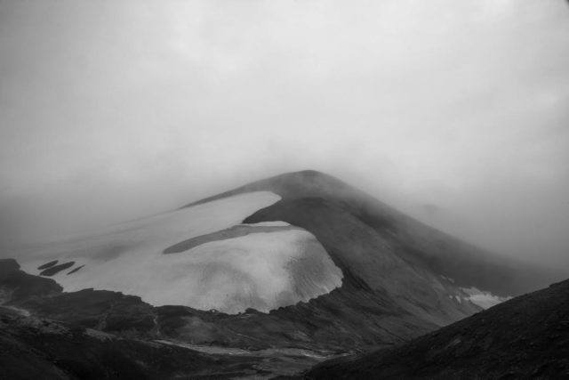 The highlands of Southern Iceland look mysterious and gloomy.