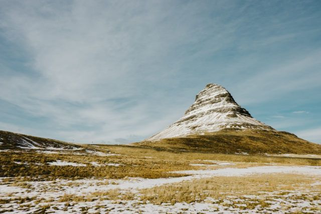 Kirkjufell mountain in Iceland.