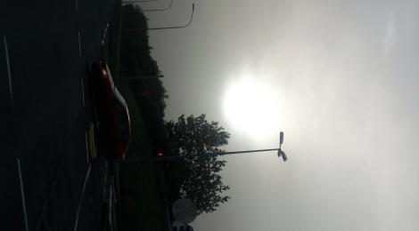 The sky went dark in the daytime in Reykjavik