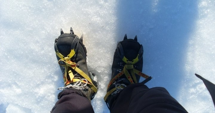 Get your crampons on to tackle in the Hrútfjallstindar Peaks in the Vatnajokull glacier in Icleland.
