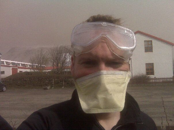Volunteering to clear ash from the Thorvaldseyri farm in the South of Iceland during the 2010 Eyjafjallajökull eruption. It´s Mad Max meeting Grey´s Anatomy.