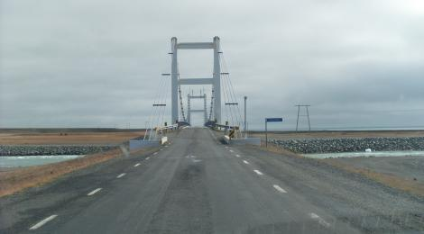 The bridge on the edge of Iceland. If global climate change persists it will have to be replaced sooner than you might think.