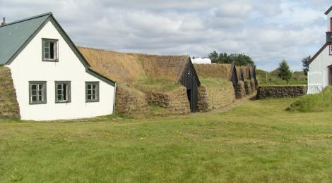 The ancient farm of Keldur in the South of Iceland.