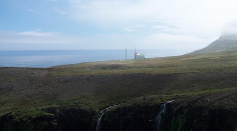 The Hornbjarg light house (Hornbjargsviti) on a perfect day.