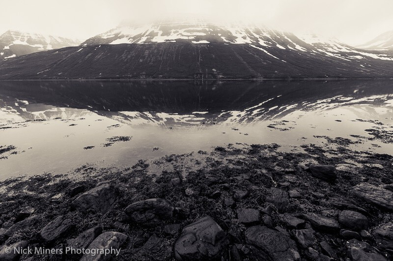 Sugandafjordur in the Westfjords of Iceland.