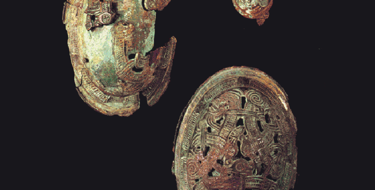Viking era broaches on display at the National Museum of Iceland