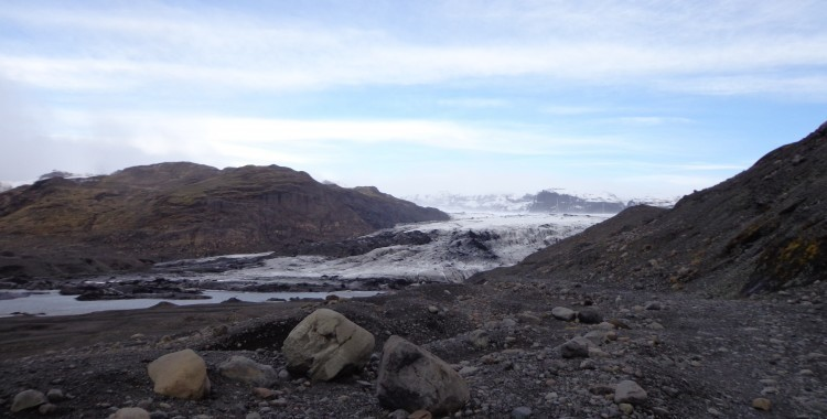 The edge of Sólheimajökull glacier.