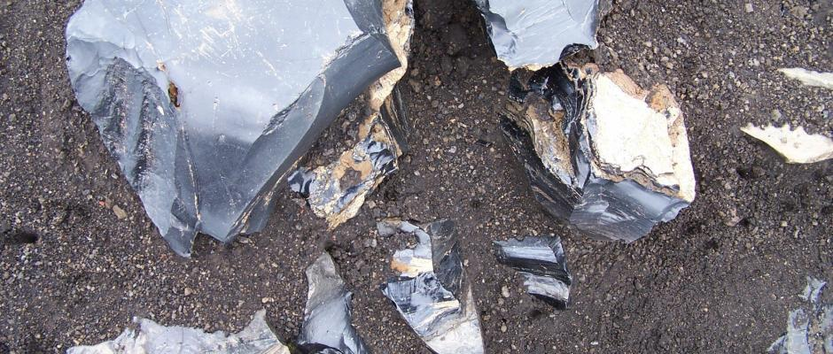 Obsidian rock formations - you have to see it to believe it