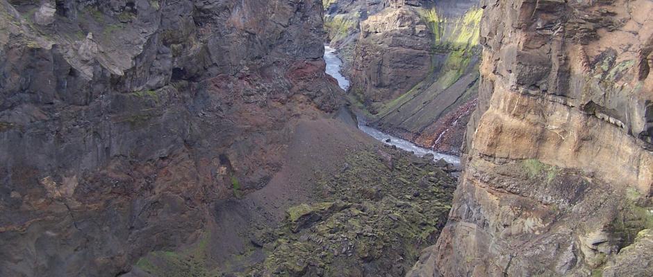 The mighty Markarfljótsgljúfur canyon